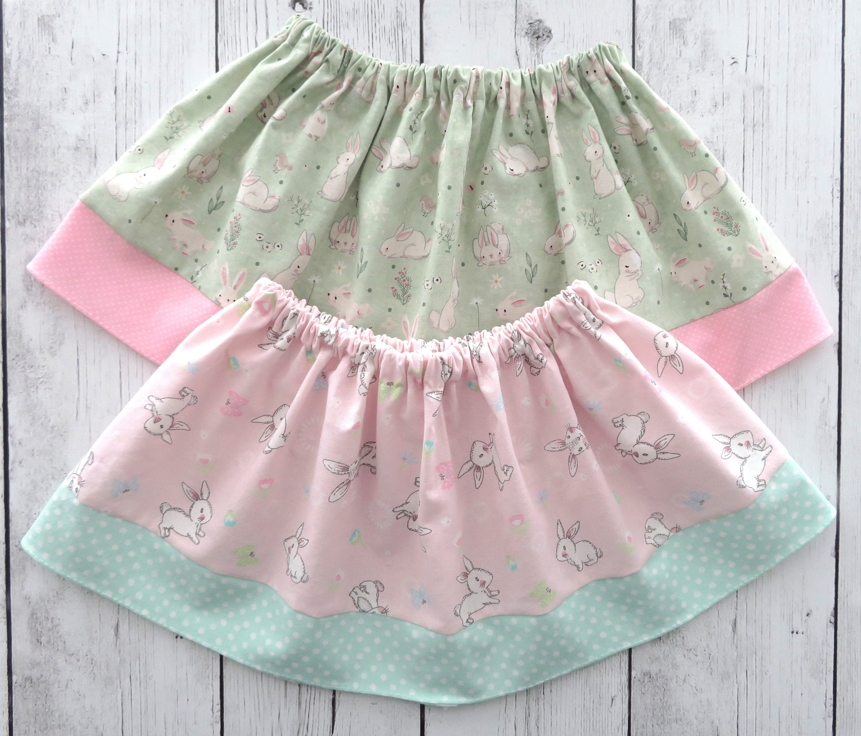 Bunny Skirt for baby girl - Easter skirt, spring skirt, some bunny is one, bunny 1st birthday, pink mint, easter dress, cotton skirt