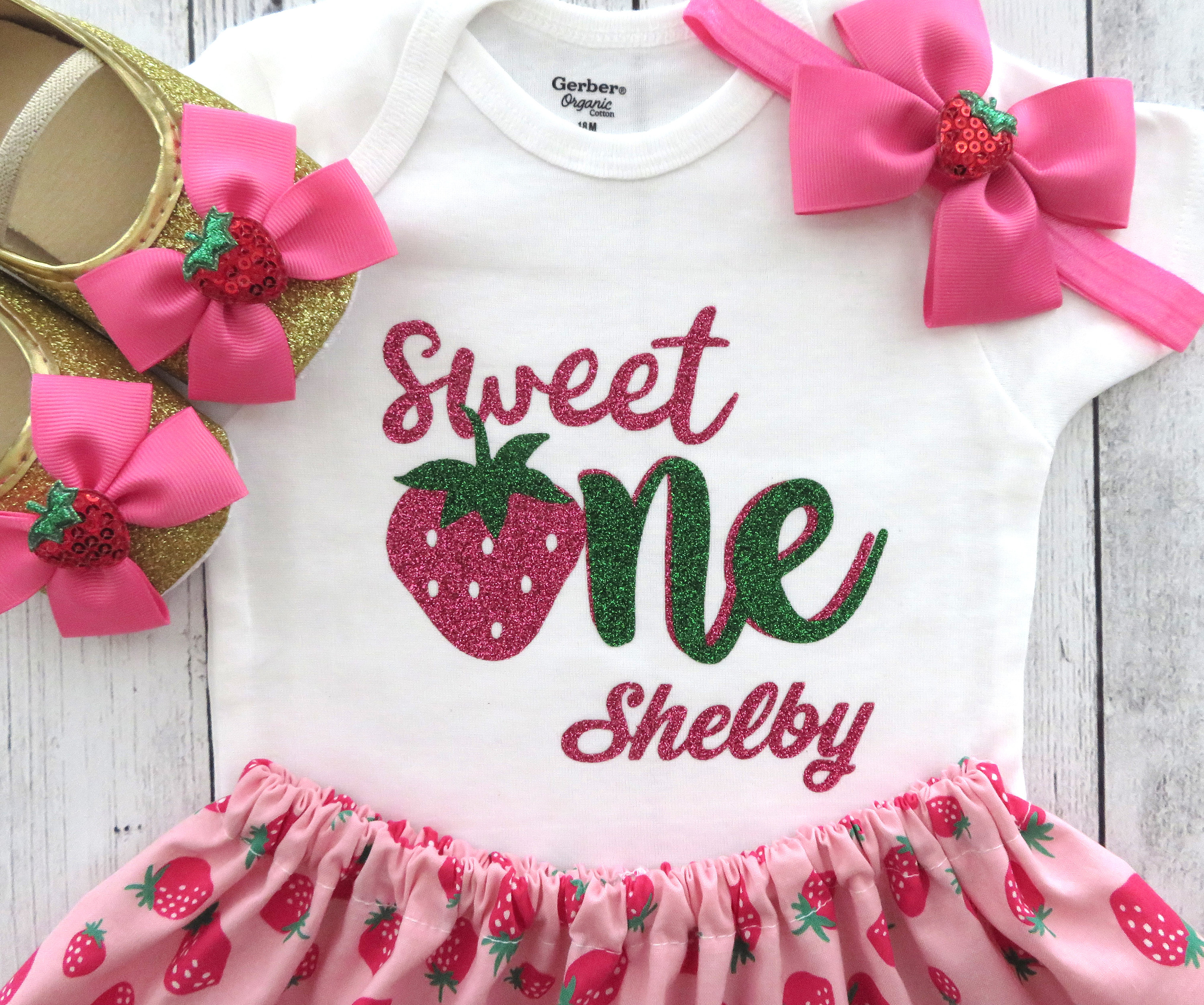 Strawberry First Birthday Outfit - sweet one, girl birthday outfit, strawberry shortcake, summer birthday, strawberry sweet one birthday