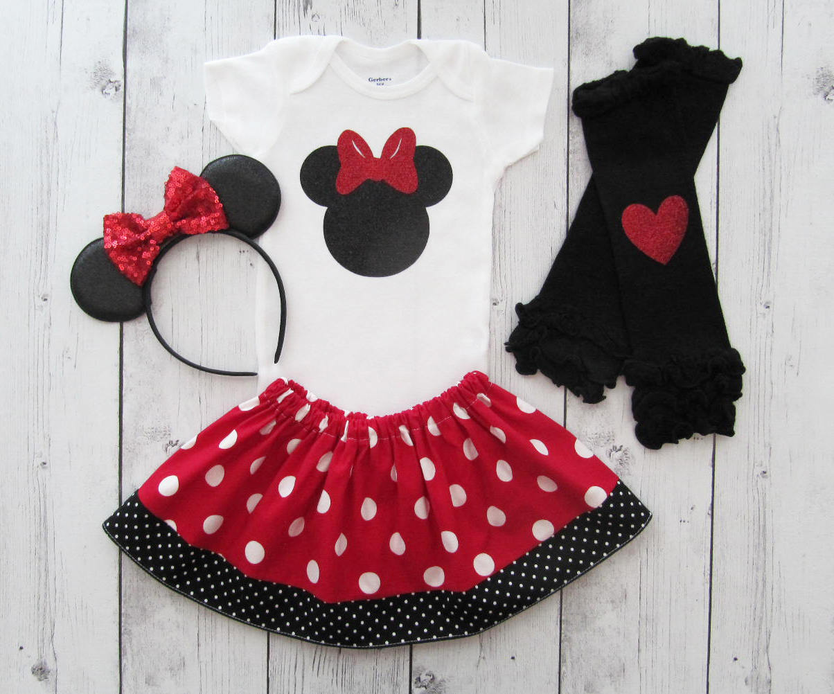 Minnie Mouse Halloween Costume for Baby to Toddler - girl halloween outfit, comfortable costume, minnie halloween red, baby first halloween