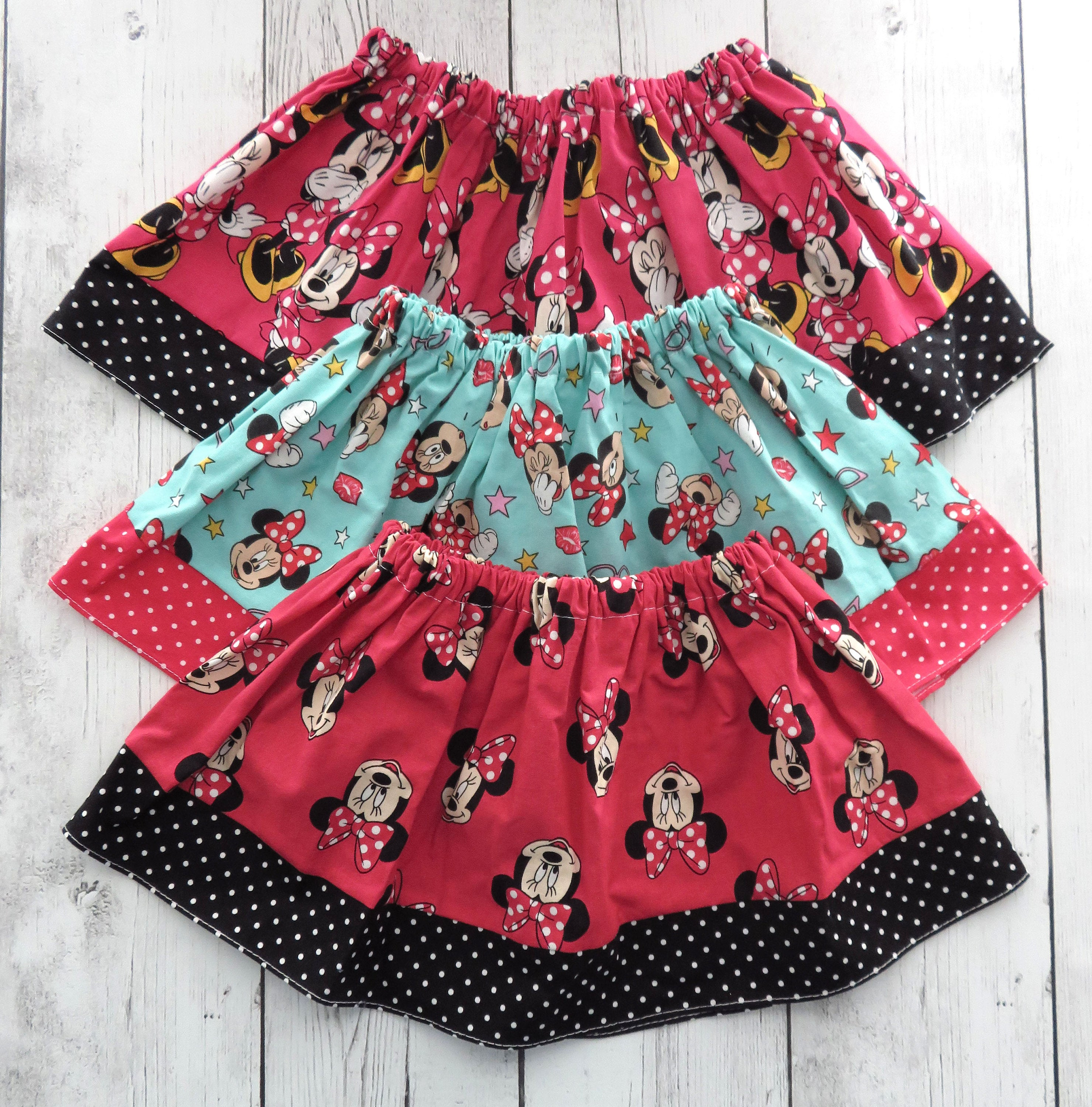 CLEARANCE - Minnie Mouse Skirts - minnie first birthday skirt, minnie mouse skirt, minnie mouse baby, baby shower gift, cotton skirts