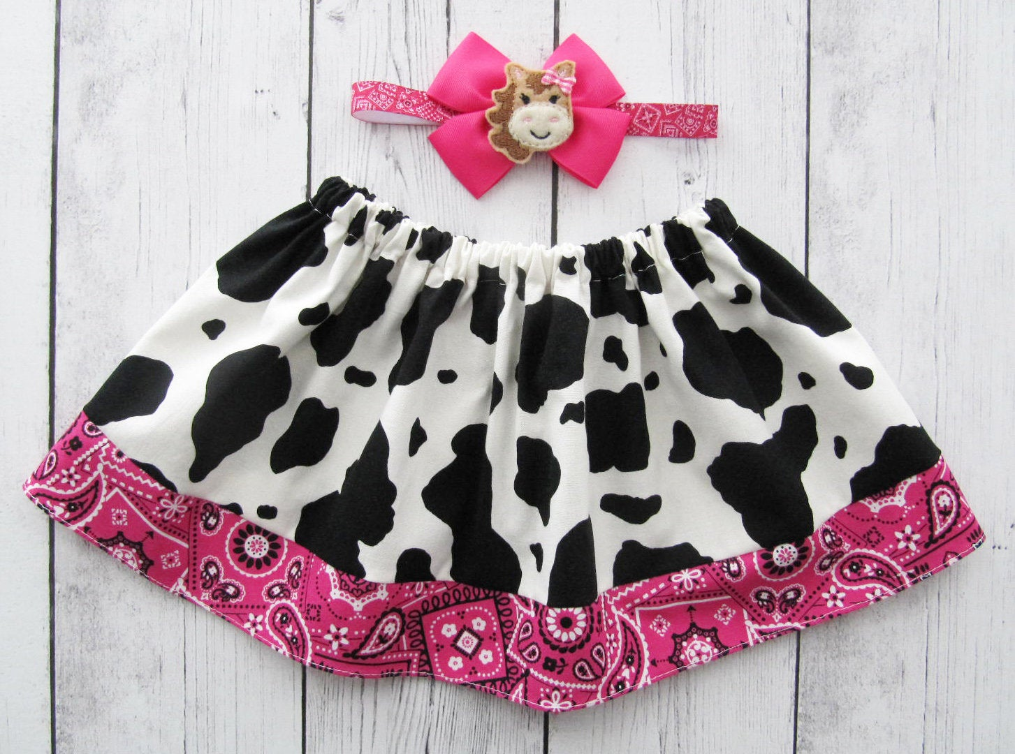 Cowgirl Skirt for baby girl - cow skirt, barnyard birthday, cow birthday, cow halloween costume, cow skirt girl, baby girl skirt, cowgirl
