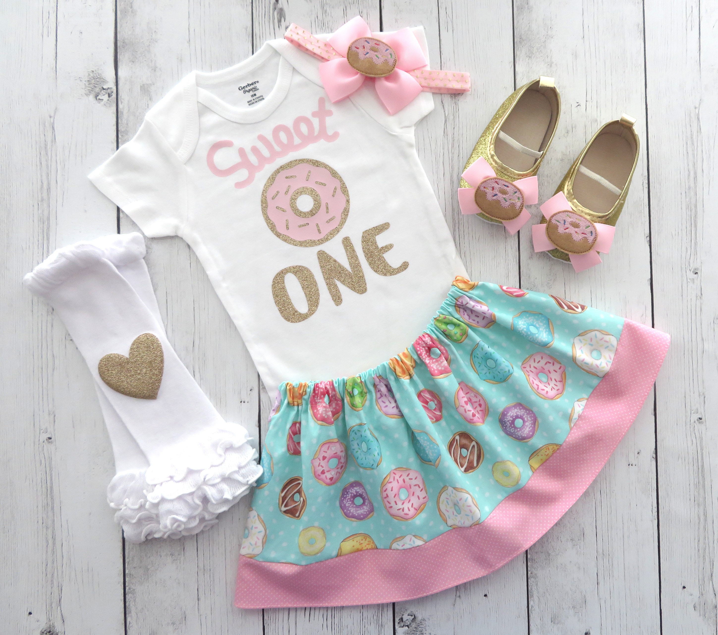 Donut First Birthday Outfit for baby girl - donut grow up outfit, sweet one, donut first birthday party, donut 1st bday outfit, donut shoes