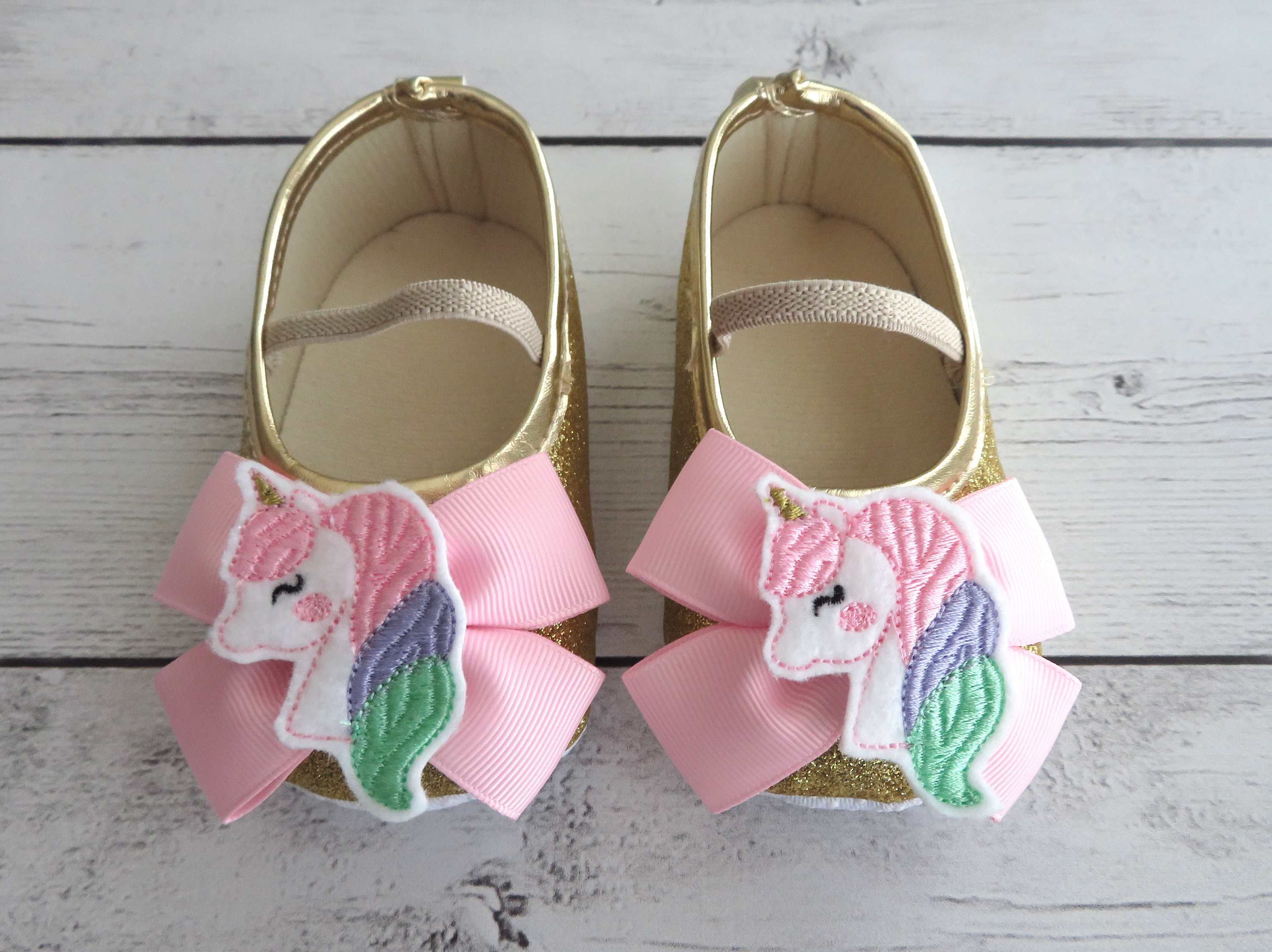 Unicorn First Birthday Shoes in light pink, mint, lavender and gold - unicorn 1st birthday girl, unicorn shoes, unicorn birthday outfit,