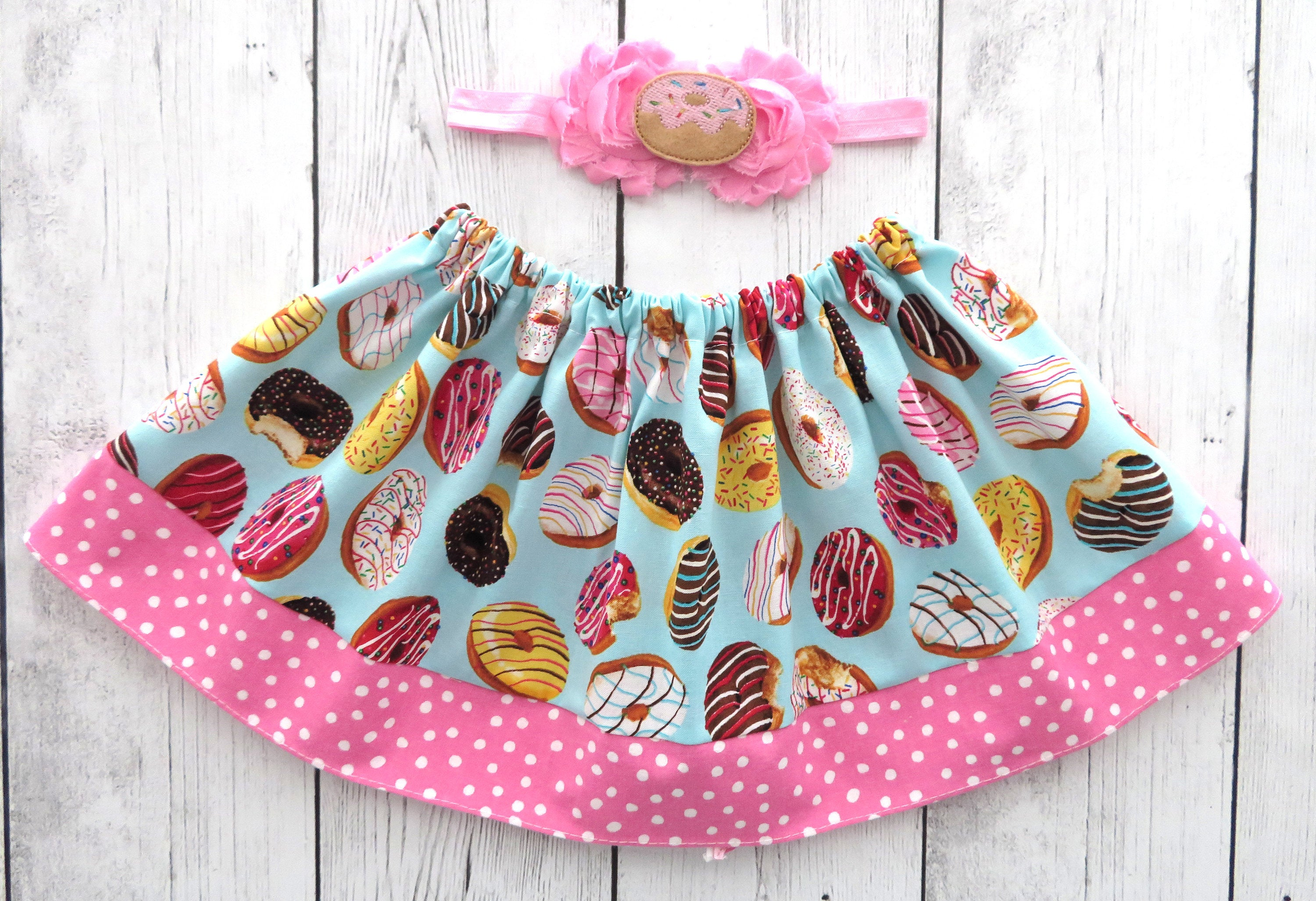 Donut Skirt for baby girl - donut grow up, donut first birthday, donut birthday pink, donut skirt pink, donut skirt for girl, donuts skirt