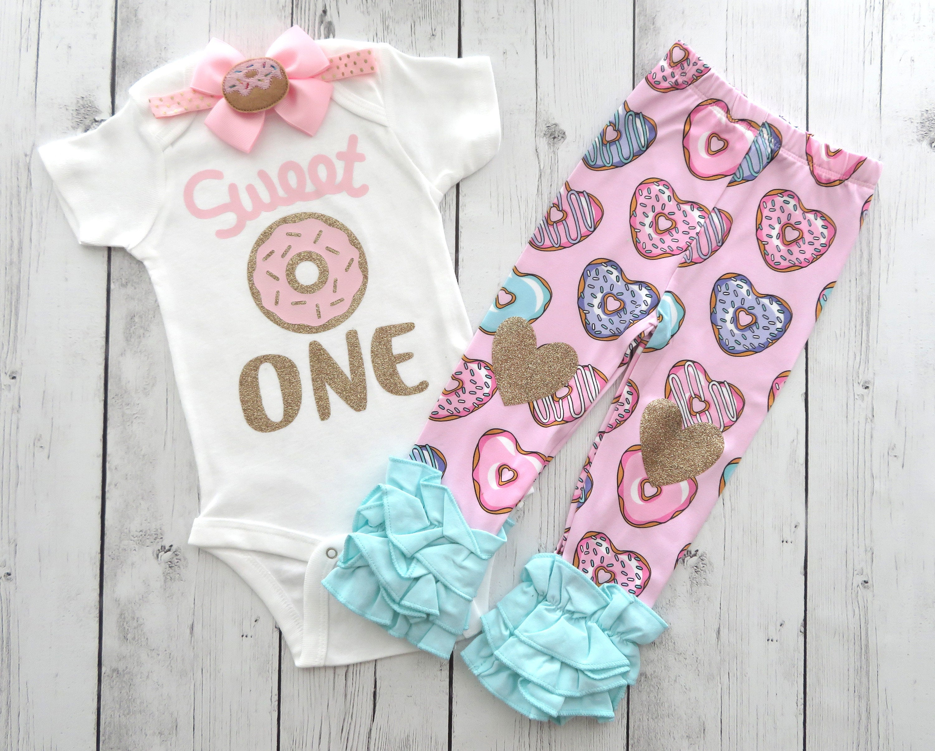 Donut First Birthday Outfit for girl - donut grow up outfit, sweet one, donut 1st bday party, donut 1st birthday outfit, donut pants
