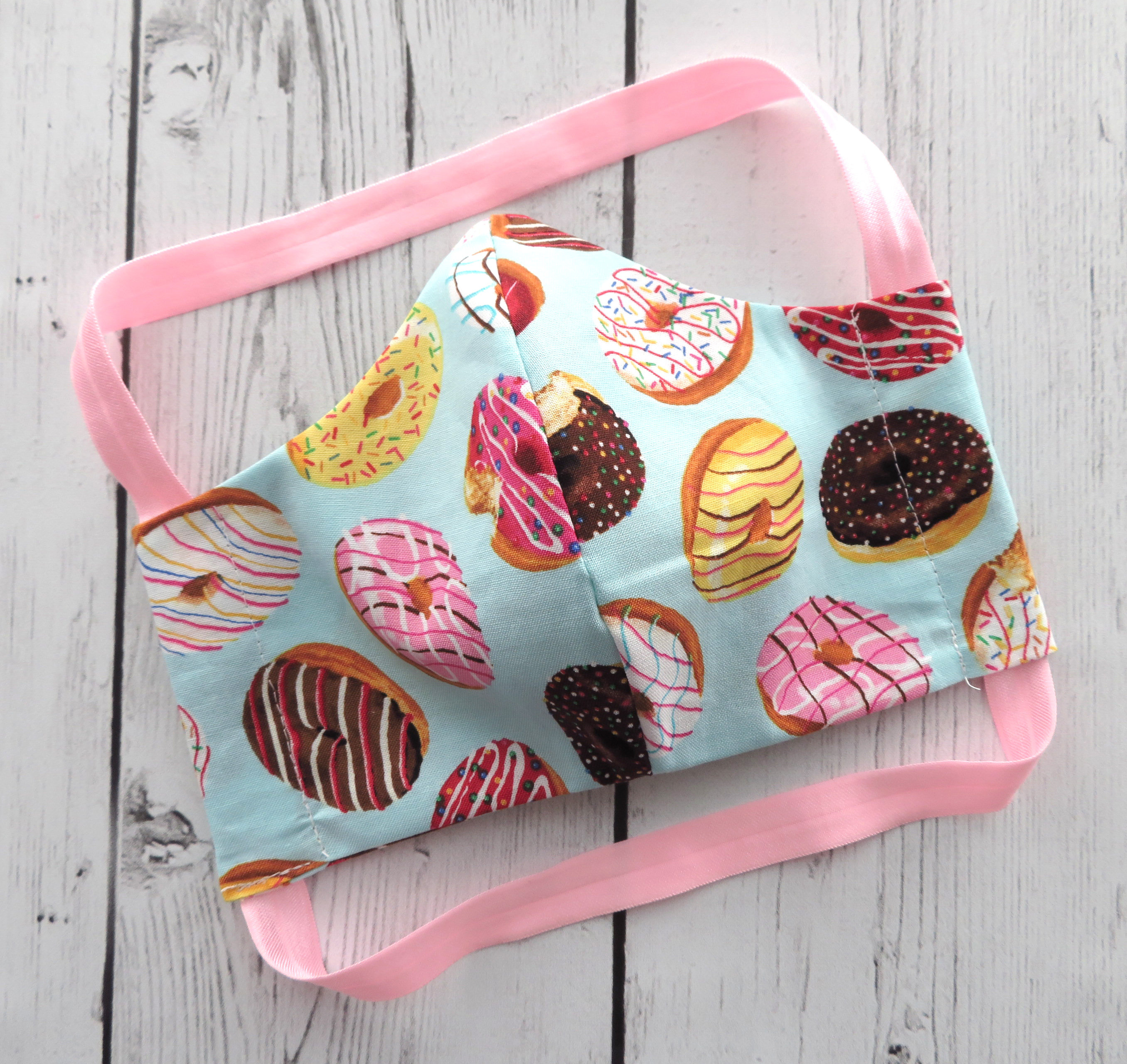 Donuts Face Mask - READY TO SHIP! - handmade cotton face mask for adult, washable and re-usable, ear saver design, designer face mask