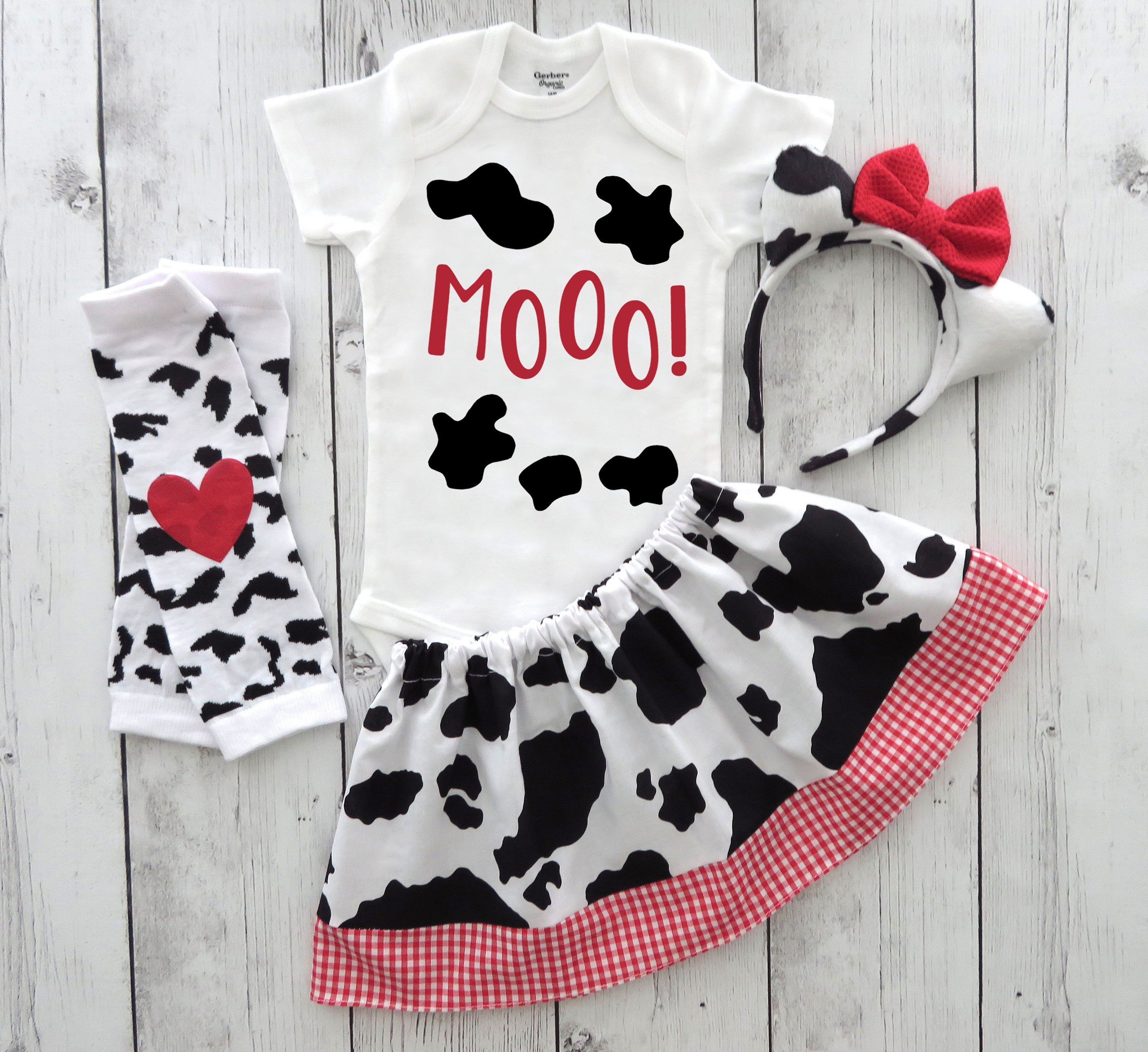 Cow Halloween Costume - toddler halloween costume girl, cute cow, first halloween, cow ears headband, cow costume, comfortable costume