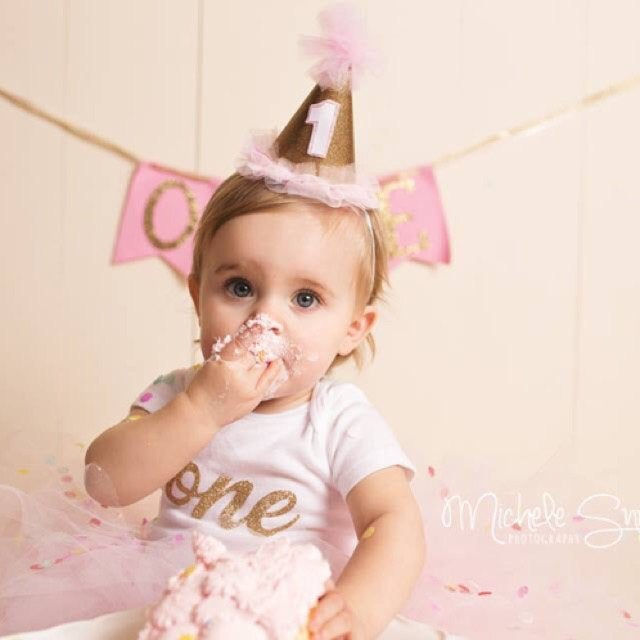 Gold Glitter First Birthday Onesie - one, glitter gold, baby girl, gold birthday, first birthday shirt, gold glitter one, gold one onesie