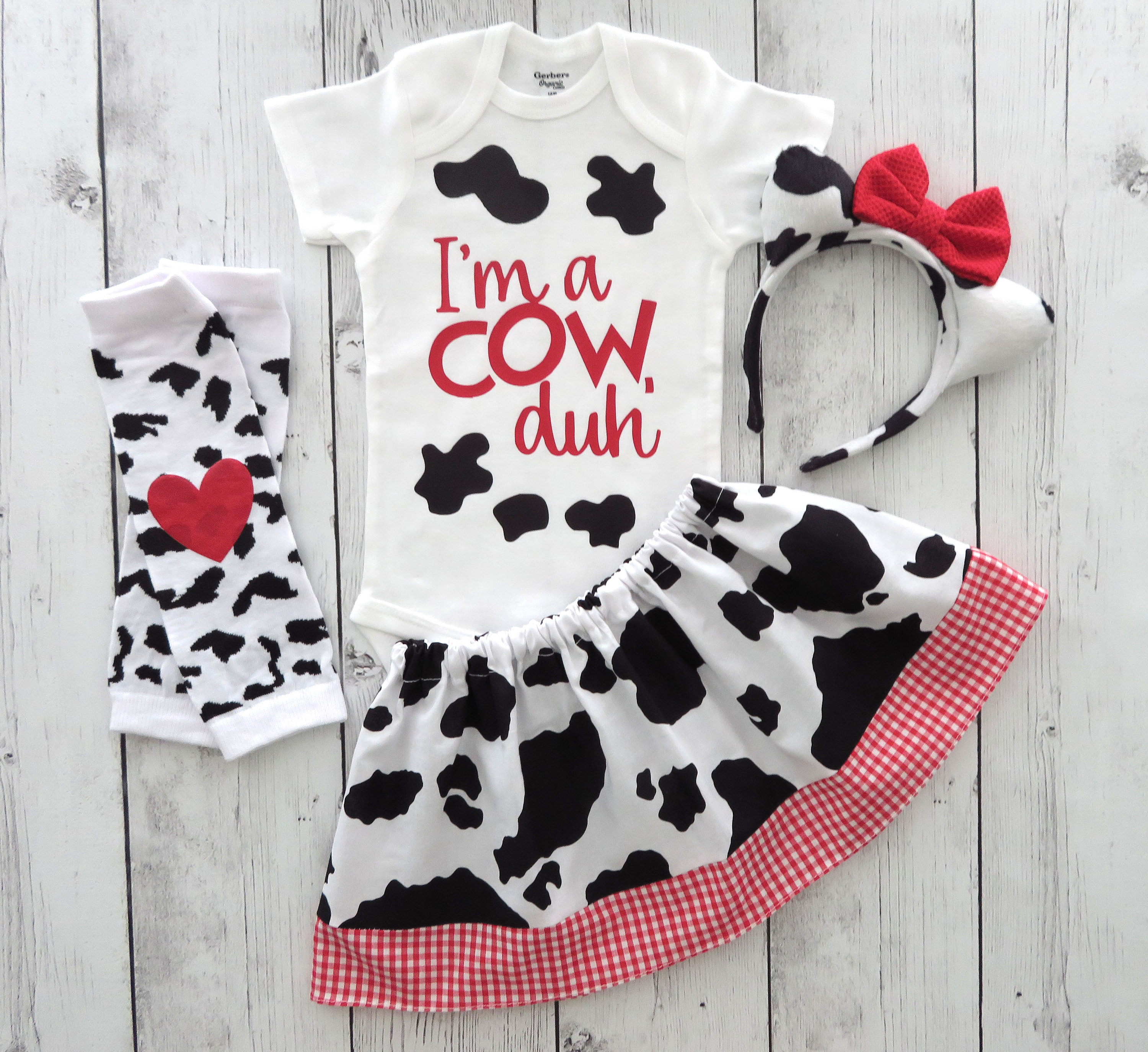 Cow Halloween Costume - toddler halloween costume girl, cute cow, first halloween, cow ears headband, cow costume, comfortable costume (COPY)