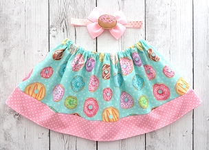 Donut Skirt for baby girl - donut grow up, donut first birthday, donut birthday girl, donut skirt pink, donut skirt for girl, donuts skirt