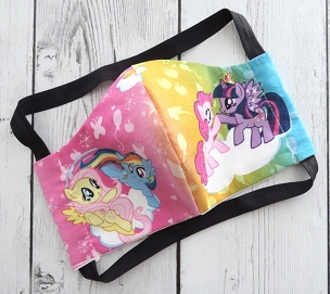 My Little Pony Face Mask - READY TO SHIP from USA! -handmade cotton face mask for adult, washable and re-usable, ear saver design, brony