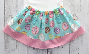 Donut Skirt for baby girl in pink and mint - donut grow up, donut first birthday, donut skirt pink, donut skirt for girl, donuts skirt