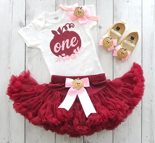Burgundy and Blush Pumpkin First Birthday Outfit with tutu pettiskirt -our little pumpkin is turning one, 1st birthday outfit girl tutu pink