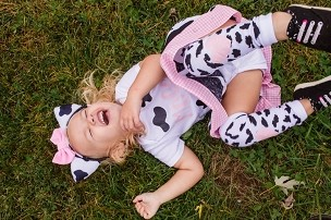 Cow Halloween Costume - baby/toddler halloween costume, first halloween, cow ears headband, toddler halloween costume, cow costume girl
