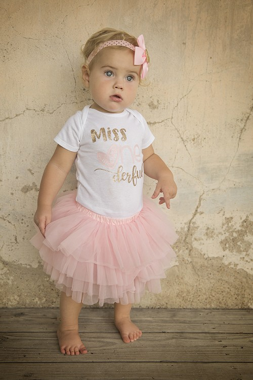 Miss ONEderful First Birthday Outfit for baby girl